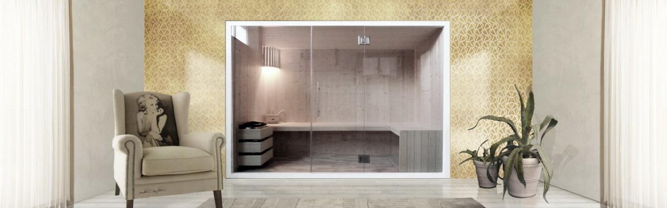 sauna finlandese modello panorama